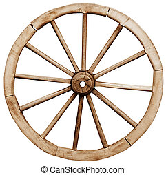 Big vintage rustic wagon wheel - Big vintage rustic telega...