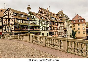 Strasbourg in Alsace, France - the capital of Alsace in...