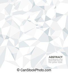 White crumpled paper banner - Abstract crumpled paper banner