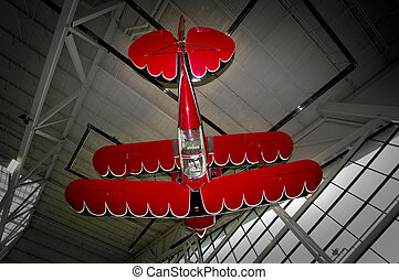 Stunt plane hanging upsidedown - In a museum this stunt plan...