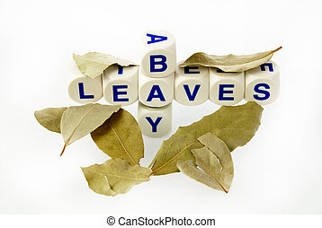 "Bay Leaves - Letters spelling out ""Bay Leaves"""