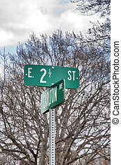 2 1/2 street sign - This is a vary unique street sign on 2...