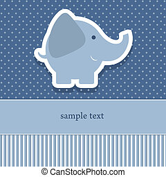baby shower invitation template vector illustration Cute...