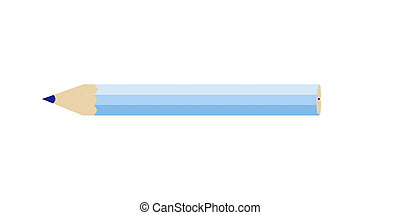 pencil of blue color on a white background, it is isolated