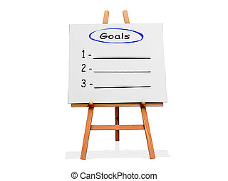 Art Easel Flow Chart Goals - Art Easel on a white background...