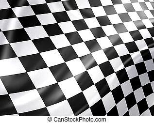 Racing Flag - Checkered racing flag - high detailed...