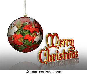 Christmas Greeting Flower ornament - Christmas design with...