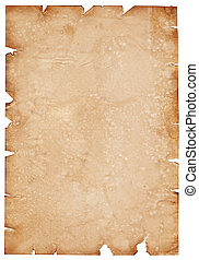 Parchment paper - Old parchment paper with shabby edges