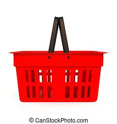 Shopping basket - isolated on white background