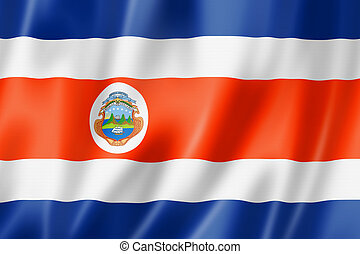 Costa Rican flag - Costa Rica flag, three dimensional...