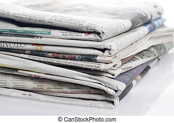 close up of news papers