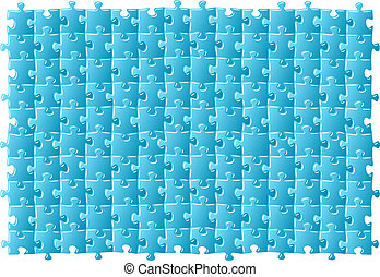jigsaw puzzle - vector illustratiton of a blue jigsaw puzzle