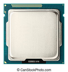 CPU upside - Close up CPU upside isolated on white