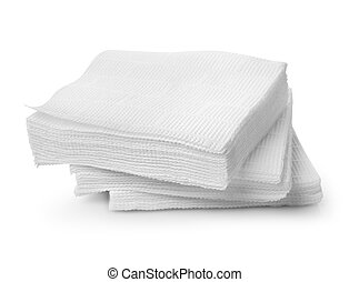 Paper napkins isolated on a white background