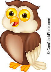 Owl cartoon - Vector illustration of Owl cartoon
