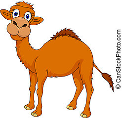 Cute camel cartoon - Vector illustration of cute camel...