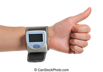 Tonometr - digital blood pressure on the hand