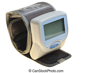 Tonometr - digital blood pressure on the white background