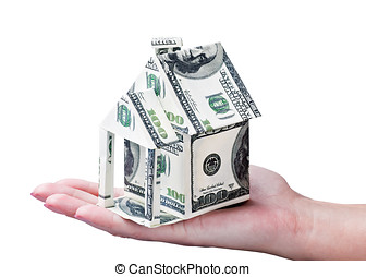 House made of money in hand - House made of money in hand...