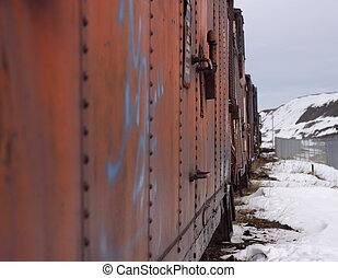 Rusty rail cars - A splash of graffiti adds color to...