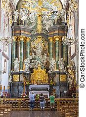 Altar in basilica - Jasna Gora Sanctuary, Czestochowa, Poland.