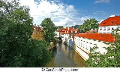 Chertovka small channel in Prague - Beautiful small channel...