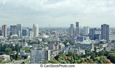 Arial panorama of Rotterdam, Holland - Aerial city panorama...