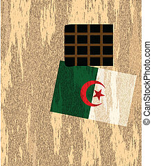Outside wall with flag Algeria