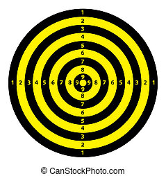 Black and Yellow Target