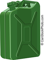 Metal canister of gasoline. Illustration in vector format...