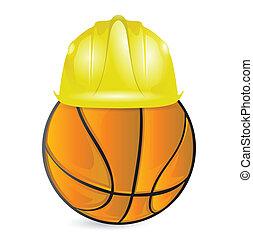 basket training. under construction illustration design over...