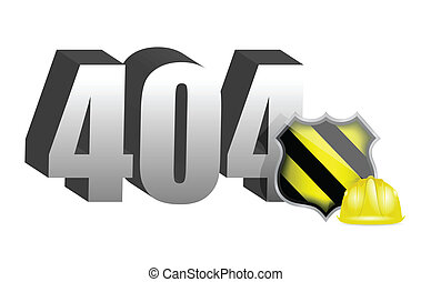 404 error, under construction illustration