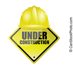 under construction illustration design over a white...