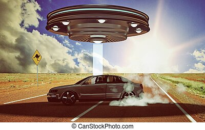 ufo abduction in the desert