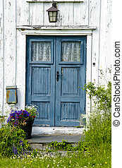 Wooden front door - Residential - Old wooden front door -...