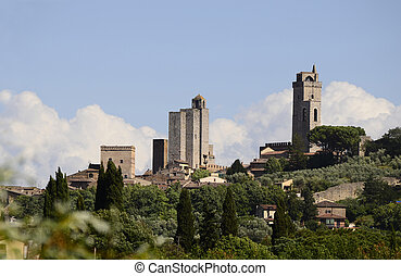 Italy, Unesco World Heritage site of San Gimignano