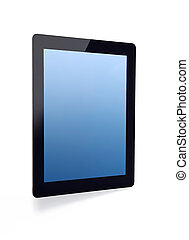 pad tablet with blue screen