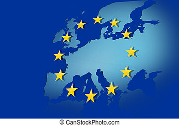 European Union: flag and map