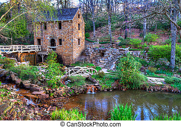 Old Mill, in Winter - The Old Mill Replica in N Little Rock,...