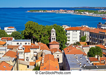 City of Zadar aerial view with Puntamika peninsula,...