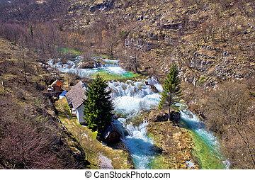 Plitvice lakes national park Korana river