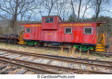 Vintage Caboose - Vintage railroad caboose from a bygone era...