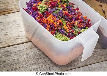 juicer vegetable pulp - colorful juicer pulp after juicing...