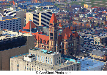 Cincinnati city hall - Cincinnati City Hall on Nov 18, 2012,...