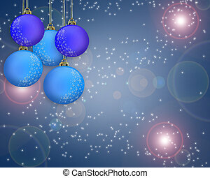 Christmas Background Blue Ornaments