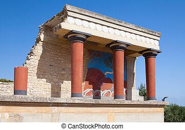 Grécia,  crete, Palácio,  Knossos