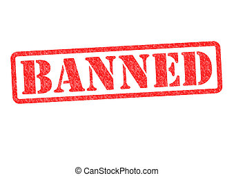BANNED rubber stamp over a white background