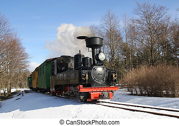 little steam locomotive - Narrow gauge railway, tourist...