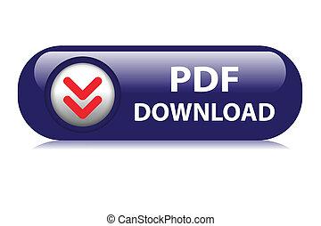 PDF Download web button - Dark blue pdf download web button.