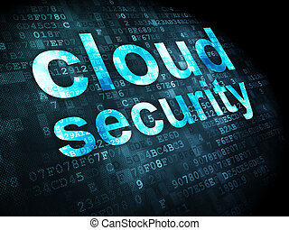 Networking concept: Cloud Security on digital background -...